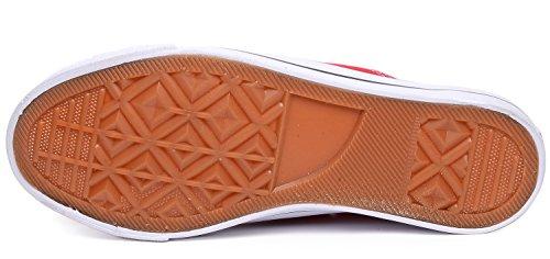 0ad675a9258 ... Odema Kvinnor Män Snörning Tygskor Mode Sneakers Klassiska Tillfälliga  Preppy Stil Platta Skor Röd ...