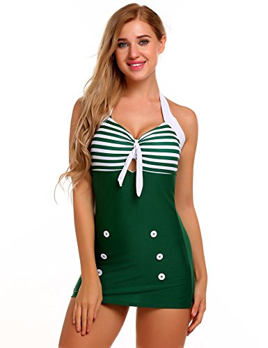 Green Stripe Halter - 1