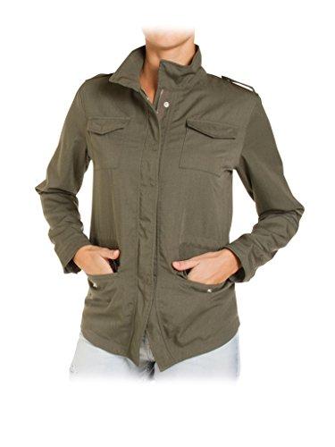 Jeans Taille Normale Style Military Femme Pour Carrera Unie Green Saharienne Couleur Blouson Manche 765 Longue 491 qwvdwxzC