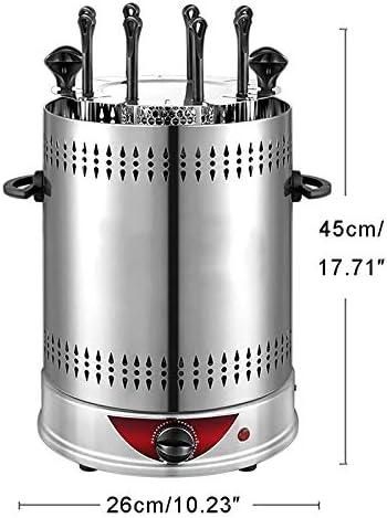 Schaschlik Vertikal Multigrill Smokeless Automatische Rotating Kebab Maschine eignen Sich f/ür Veranstaltungen Zeitbetrieb Haushalt Grill-Maschine mit 8 Grilling Gabeln Au/ßengrill
