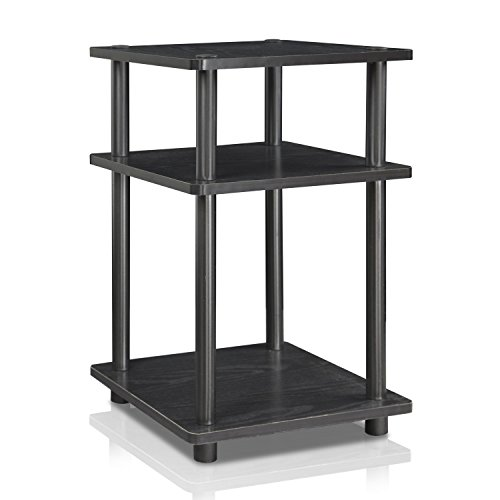Furinno Turn-N-Tube Easy Assembly Multipurpose Shelf 15095BW/BK, Blackwood