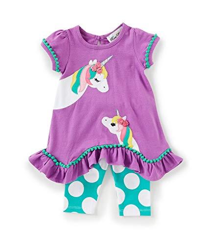 Rare Editions Mama and Baby Unicorn Capri Set (12m-24m) (18 Months) Purple