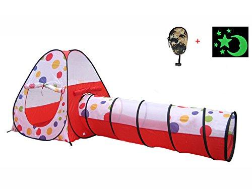 EGOODBEST 2 in 1 Kids Tent Tunnel Outdoor Play Children T...
