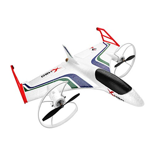 (Hisoul X420 RC Airplane - 2.4G 6CH 3D/6G Aerobatic Vertical Take-Off Remote Control Glider - 340mm Wingspan Fixed-Wing RC Airplane, for Beginners Best Gift (♥ White))
