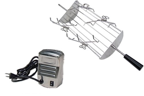 E-Z Que WG-E-Series-21.5x8 8-Inch-Cradle Rotisserie Kit for Weber Genesis E, EP, and S Series Gas Grills