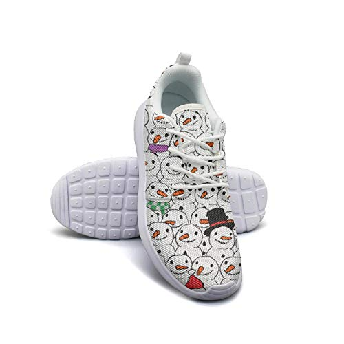 Have a very Merry Christmas Snowman white Sneaker Shoes for Men cute Lightweight Air Running ()