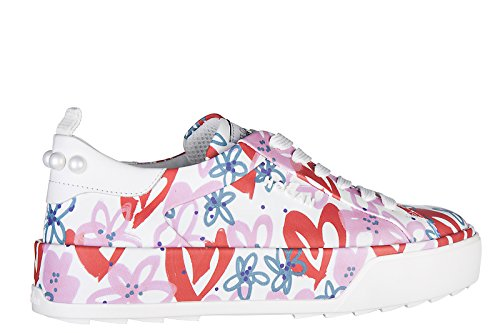 Hogan zapatos zapatillas de deporte mujer en piel nuevo r320 35mm sole blanco
