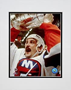 "Bryan Trottier ""Holding Stanley Cup"" Double Matted 8Ó x 10Ó Photograph (Unframed)"