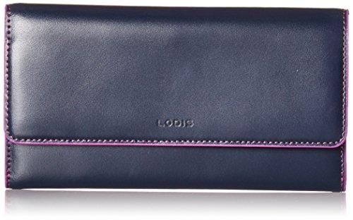 Lodis Women's Audrey Rfid Luna Clutch Wallet, Navy/Orchid, One Size