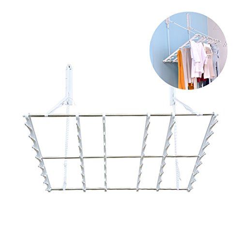 JIAPUSI Multifunctional wall folding clothes drying rack and
