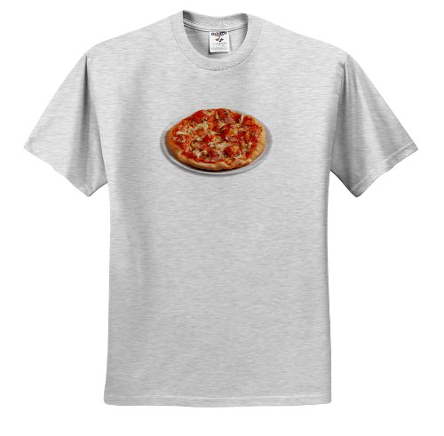 3dRose Fruit Food Pizza T Shirts