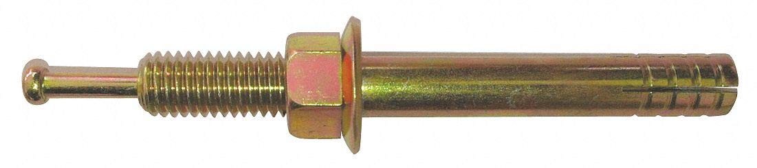 Hex Nut-Head Hammer Drive Pin Anchor, 6'L x 1/2' Dia, 70 PK