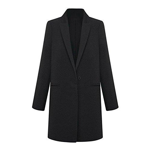 Survetement Laine Hiver Long M Costume Noir Trench Manteau En Toogoo Femmes Cachemire r Blazer Mode w0IT7U