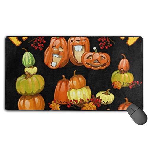 MVITUSFe Halloween Holiday Party Pumpkin Mouse Pads Non-Slip