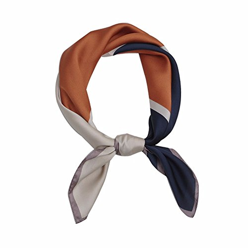 FLYRCX Lady's Fashion Foulard Foulard en Soie satin soyeux Cheveux décoration 70cmx 70cm