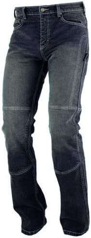Jeans 100/% Coton Moto Pantalon CE Protections Renforts Aramid Homme noir 30