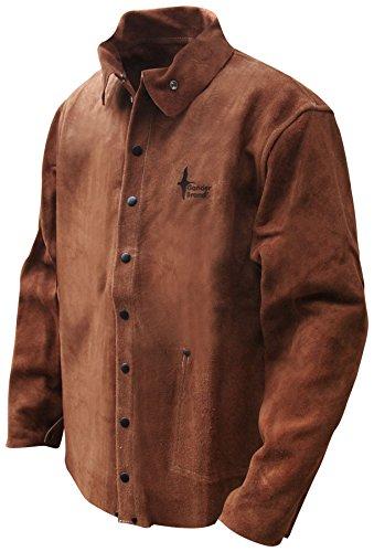 c13331bb3 Bob Dale Gloves 601126XL Welding Jacket Split Cowhide Brown Kevlar Sewn,