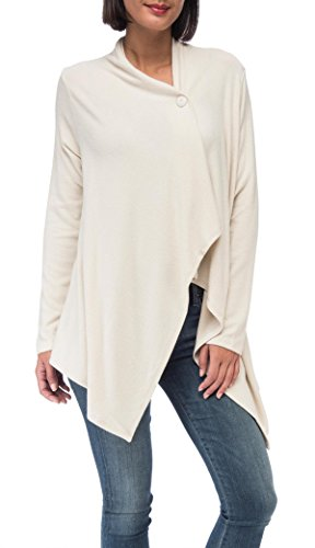 Bobeau Women's Signature Sweater Cardigan Soft, Cozy & Comfortable Rayon (Button Sweater Petite One)