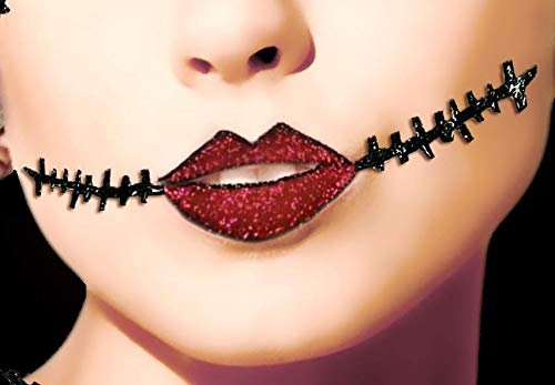 Xotic Eyes Corpse Lips and Scar Self-Adhesive Makeup ()