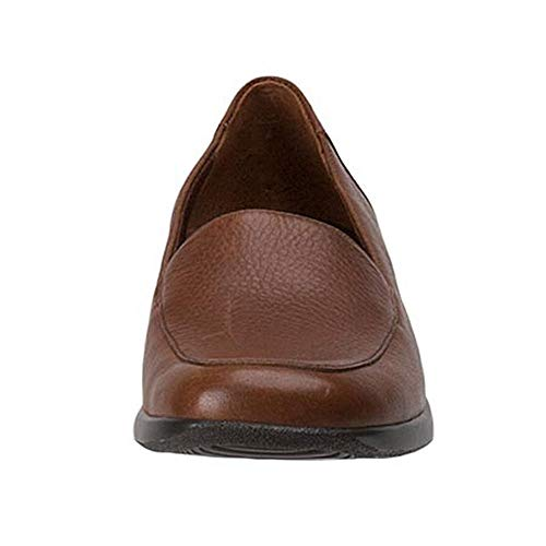 Brown Tumbled Leder Frauen Soft Trotters Loafers Mid xSIzTTPw