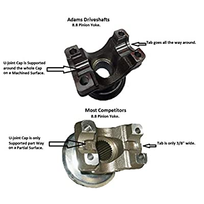 8.8 AXLE 1350 SERIES PINION YOKE [FORGED] HIGH ANGLE 28 TO 30 DEGREES: Automotive