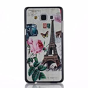 SHOUJIKE Tower Flower Pattern PC Hard Back Cover Case for Samsung Galaxy A5