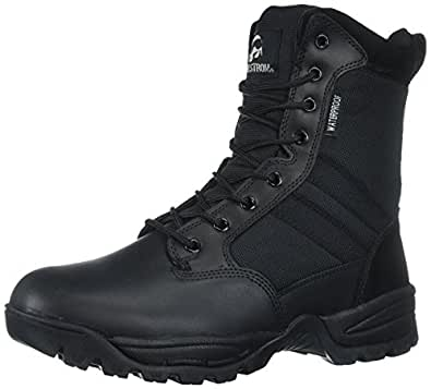Maelstrom Men's TAC FORCE 8 Inch Waterproof Military Tactical Duty Work Boot with Zipper, Black, 7 M US