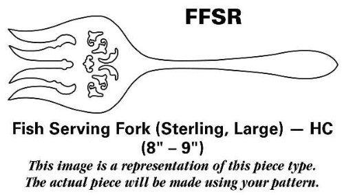 Grande Baroque Serving Fork - Wallace Grande Baroque (Sterling,1941) Fish Serving Fork Sterling Large HC