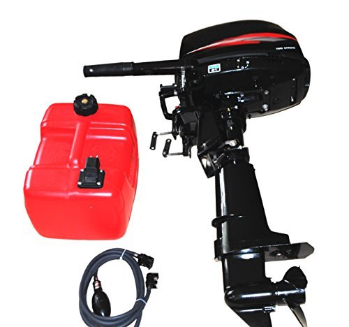 Sican 6HP Outboard Motor With 24L Fuel Tank 2 Stroke Inflatable Fishing Boat Engine