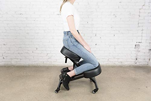 SLEEKFORM Ergonomic Kneeling Chair, Adjustable Stool For Home and...
