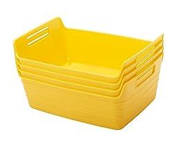 ECR4Kids Small Bendi-Bin with Handles Yellow 12/Pack