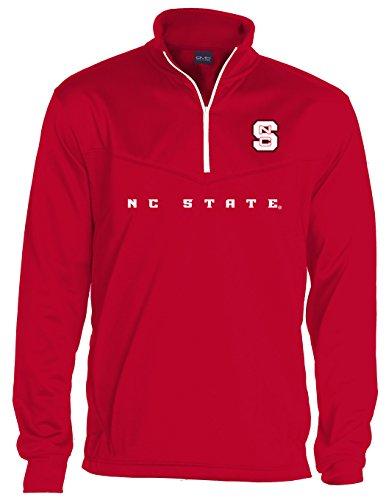 NCAA North Carolina State Wolfpack Quarter Zip Poly Fleece, Large, (Nc State Wolfpack Fleece)