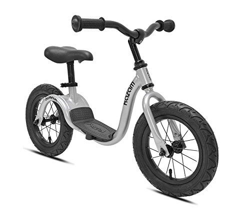 """KaZAM Alloy No Pedal Balance Bike, Metallic Silver, 12"""" -  37365K"""