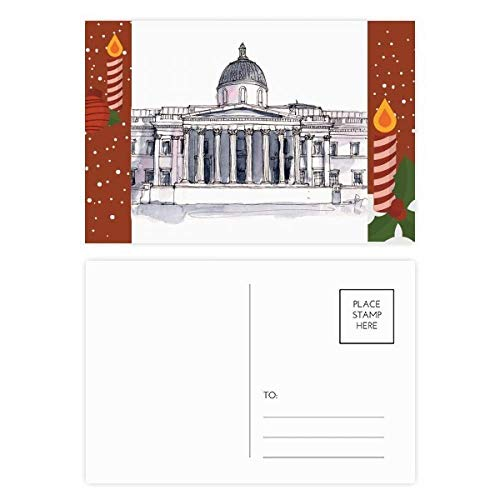 National Gallery Postcards - National Gallery in London Christmas Candle Postcard Thanks Card Mailing 20pcs