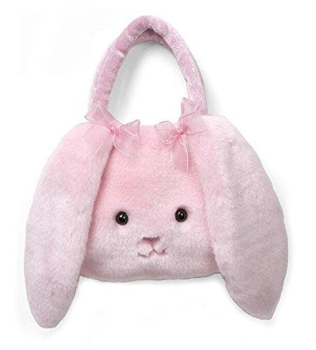Smilesky Handbags Plush Bunny Carrysome Kids Cute Purses Animal Bags Girls Pink