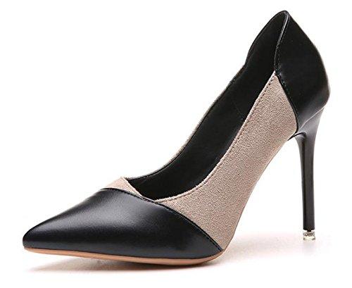 YFF Girl's/Ladies Dance Latin's Schuhe Frauen Satin/Kunstleder Ballroom Tango Latein Schuhe, Rosered 70 mm Absatz, 9.