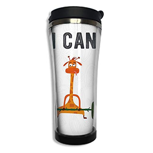 (Customizable Travel Photo Mug with Lid - 8.45 OZ(250 ml)Stainless Steel Travel Tumbler, Makes a Great Gift by,Fitness,Cute Pig Rabbit and Giraffe Exercise Summer is Coming Fitness Motivation Yes I)