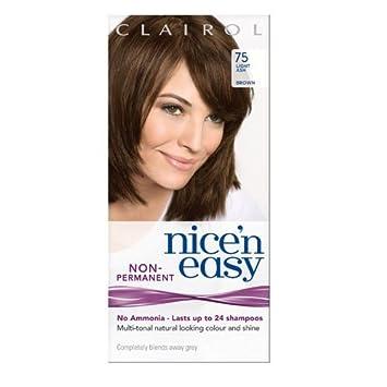 Clairol Nicen Easy Semi Permanent Hair Dye No Ammonia 75 Light Ash