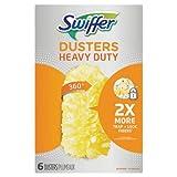 Swiffer 21620CT 360 Dusters Refill, Dust Lock Fiber, Yellow, 6/Box, 4 Box/Carton