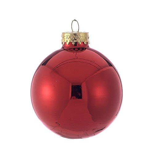 Red Shiny Ball (Kurt Adler 65mm Shiny Red Glass Ball Ornaments, 6-Piece Box Set)