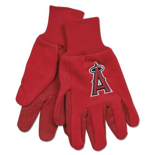 Glove Garden Angels - FOCO MLB Los Angeles Angels Solid Color Utility Gloves, Red