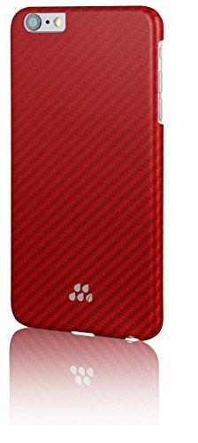 Evutec Brigandine Karbon S Série élégant protection d'impact Snap Coque pour Apple iPhone 6Plus–Rouge/Orange
