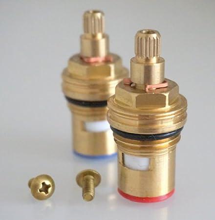 R151G 1//2 x 24 teeth x 51mm Replacement Brass ceramic disc tap valve quarter turn insert gland FITS BRISTAN