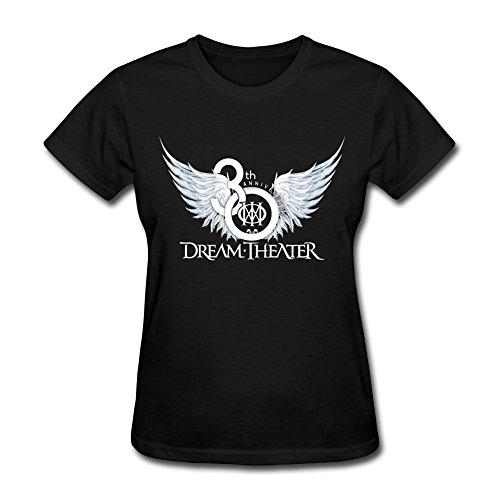 RZF Women's Dream Theater Band Logo T-Shirt-L Black ()