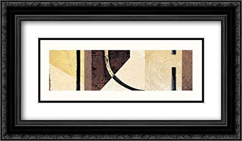 Line and Verse #II7 2X Matted 24x14 Black Ornate Framed Art Print by Holland, Cynthia