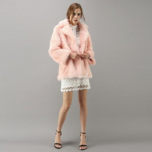 Nueva Faux Chaqueta Parka Cálido Fur Abrigos Mujer Invierno Señoras qwpawT4