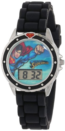 Superman Kids' SUP9007 Digital Display Quartz Black Watch