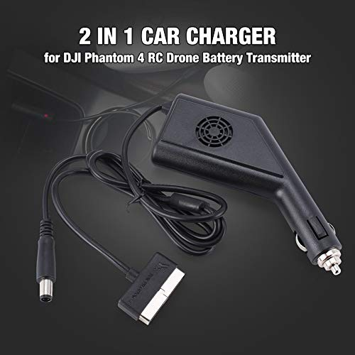 Wikiwand 2 in 1 Car Charger Safe for Phantom 4 Battery Transmitter RC Drone by Wikiwand (Image #2)