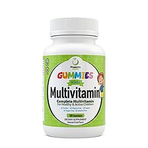Kids Multivitamin Gummies by Prosperity Health | Delicious Tropical Fruit Flavor Kids Gummies | Sugar Free, Vegan, Kosher, Gluten Free, Gelatin Free Multi Vitamin Gummy 100 Count - 50 Day Supply