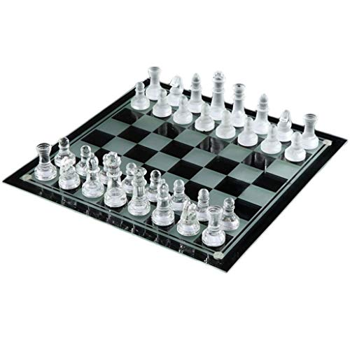 RJJX Home Tarjeta de ajedrez la decoración del hogar de ajedrez de Cristal Juguete Educativo Juego de ajedrez de la…